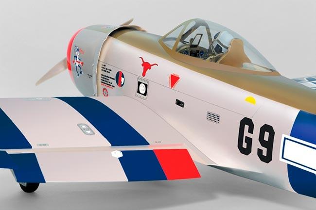 P47 Thunderbolt 91/15cc ARF - escala 1/7 - Elétrico e combustão