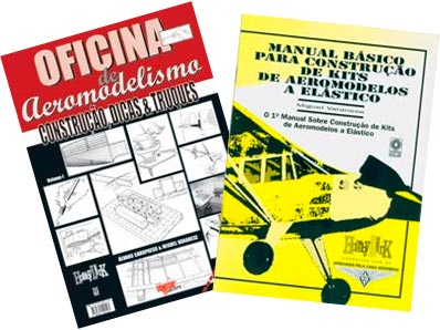 2 Livros: Manual p/ Constr. de Aeromod. a Elástico + Ofic. de Aeromod.
